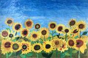 Děti nakreslily stovky slunečnic – podporují tak nemocné