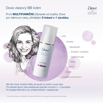 9 benefitů BB krému Dove Youthful Vitality