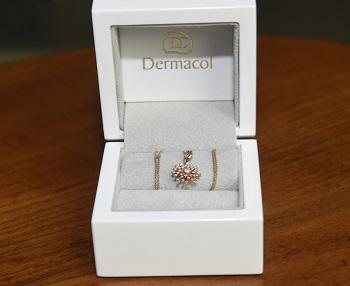 Briliantový náhrdelník v ceně mnoho desítek tisíc který paní Knoblochovádostala k narozeninám od maželů Komárových FDS1770