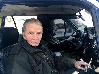 Leos Valka v aute Vaclava Havla
