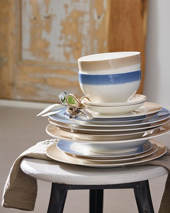 Luxurytable.cz Colourful Life Natural Cotton miska Villeroy Boch cena 450 kcmelky talir 450 Kc testovinovy talir 830 Kc
