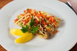 Rybi filety se zeleninou