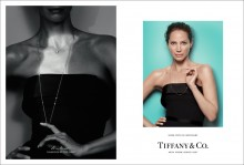 Christy Turlington wears Elsa Peretti Diamonds by the Yard necklaceS