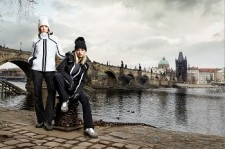 VIST Snow Leopard Prague Antea ski jkt black and white Zoe ankle boots black and white