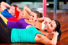 websize Fitness group in gym doing crunches for sport imagio 28876481